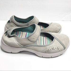 Dansko light gray Velcro comfort walking shoes 39